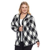 Plus Size Croft & Barrow® Plaid Cardigan