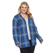 Plus Size Croft & Barrow® Plaid Cardigan