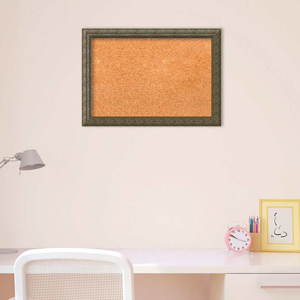 Amanti Art Small Distressed Framed Cork Board Wall Decor
