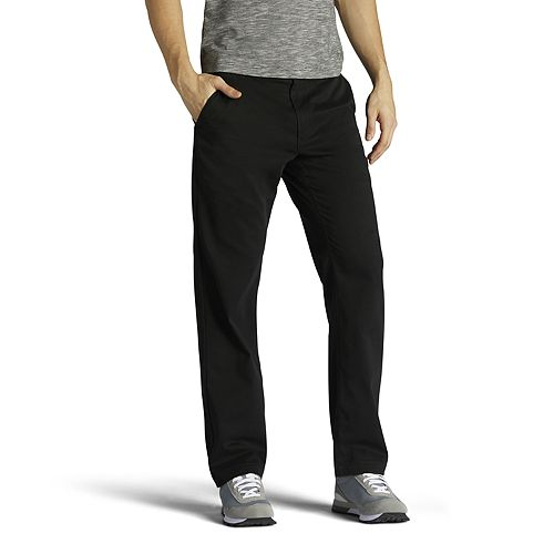 Men's Lee Performance Series Extreme Comfort Khaki Relaxed-Fit Flat-Front Pants