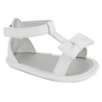 Baby Girl Wee Kids T-Strap Bow Crib Sandals