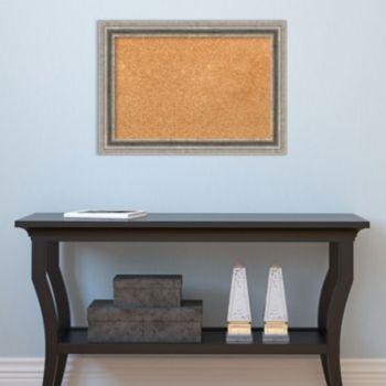 Amanti Art Small Silver Pewter Finish Cork Board Wall Decor