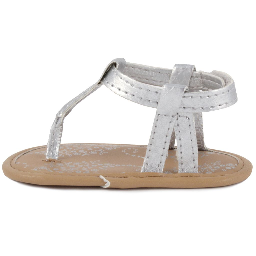 Baby Girl Wee Kids Metallic Thong Crib Sandals