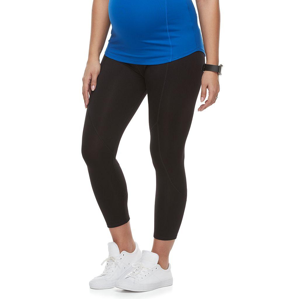 Maternity a:glow Belly Panel Workout Capri Leggings