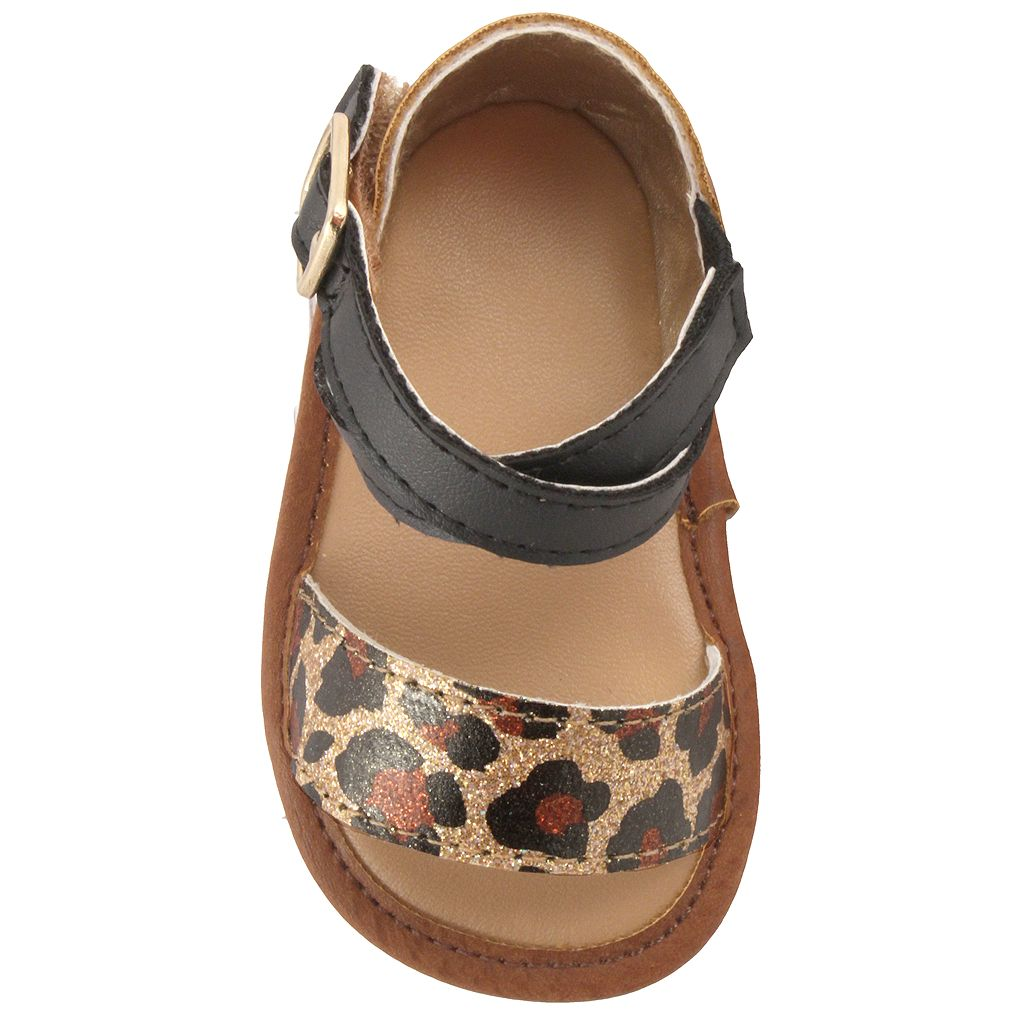 Baby Girl Wee Kids Leopard Metallic Crib Sandals
