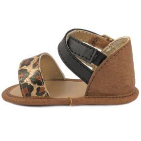 Baby Girl Wee Kids Leopard Metallic Crib Sandals