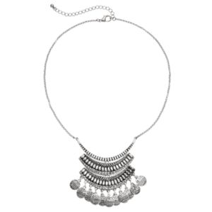 Mudd® Textured Shaky Disc Statement Necklace