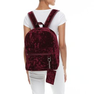 Candie's® Nova Crushed Velvet Dome Backpack with Coin Purse