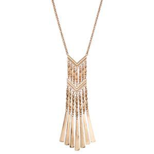 Mudd® Long Chevron Fringe Necklace