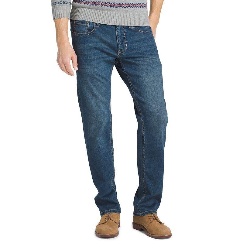 Men's IZOD Ultra Soft Straight-Fit Sportflex Stretch Performance Jeans. Size: 32X30. Dark Blue