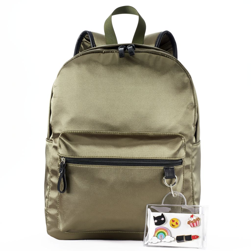Candie's® Satin Backpack with Pins
