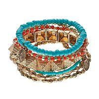 Mudd® Pyramid Beaded Multi Strand Stretch Bracelet