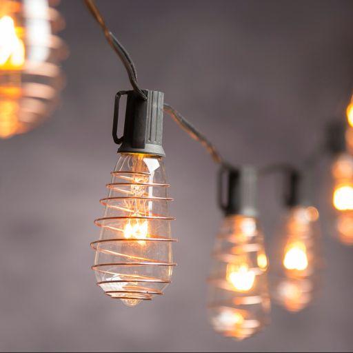 Cleveland Vintage Lighting Indoor / Outdoor Copper Finish Edison Bulb String Lights