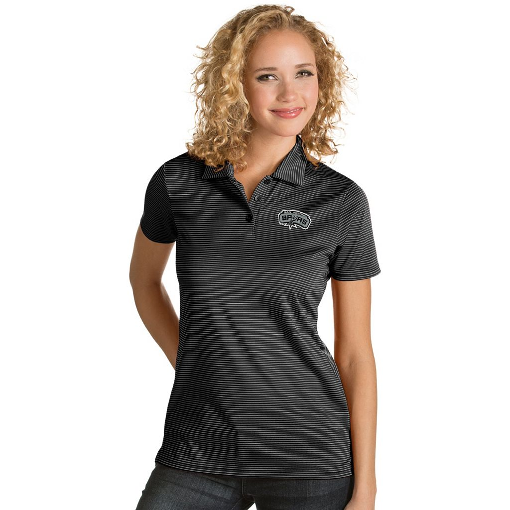 Women's Antigua San Antonio Spurs Quest Desert Dry Polo