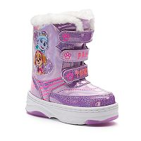 Paw Patrol Everest & Skye Toddler Girls' Light-Up Winter Boots