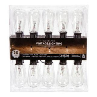 Cleveland Vintage Lighting Indoor / Outdoor Edison Bulb String Lights