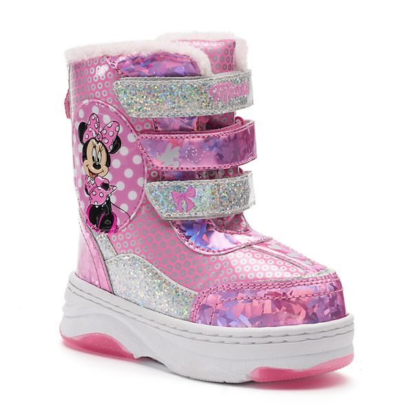 Disney Minnie Mouse Toddler Girls Pink Winter Boot