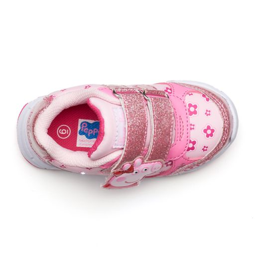 Peppa Pig Glitter Toddler Girls' Light-Up Shoes