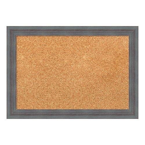 Amanti Art Small Gray Framed Cork Board Wall Decor