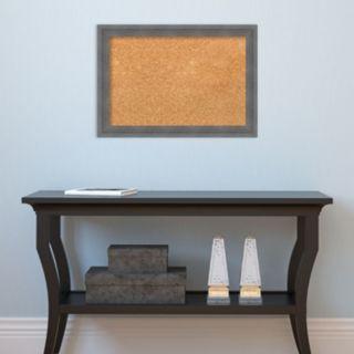 Amanti Art Small Gray Framed Cork Board Wall Decor