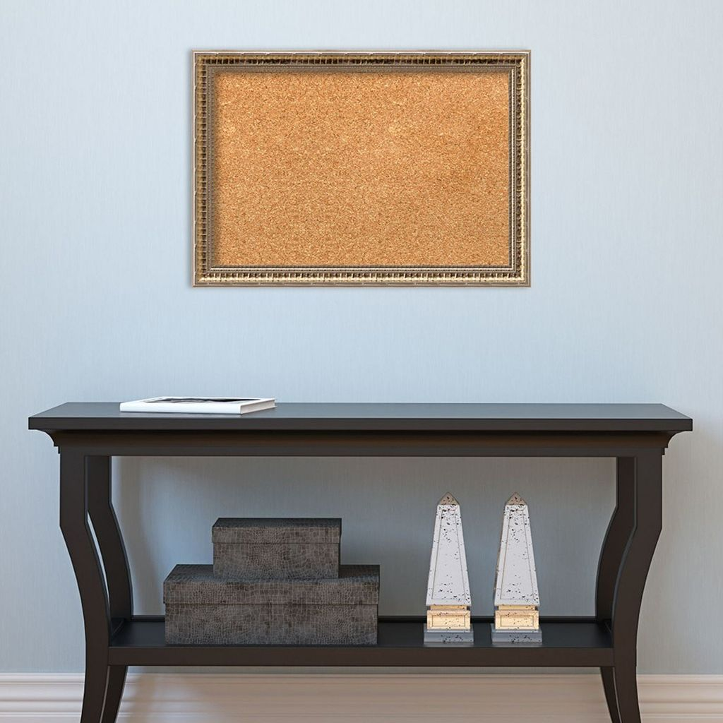 Amanti Art Small Fluted Champagne Finish Cork Board Wall Decor