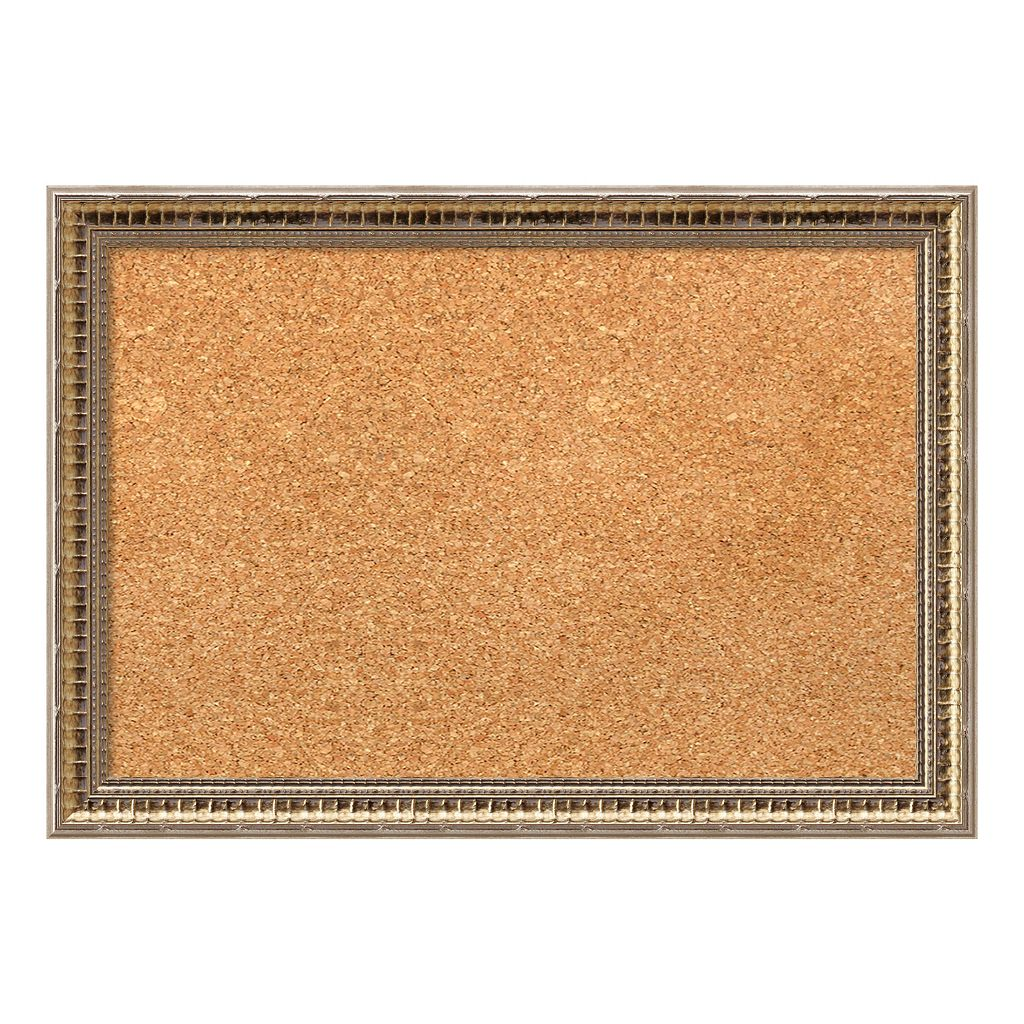 Amanti Art Small Fluted Champagne Finish Cork Board Wall Decor