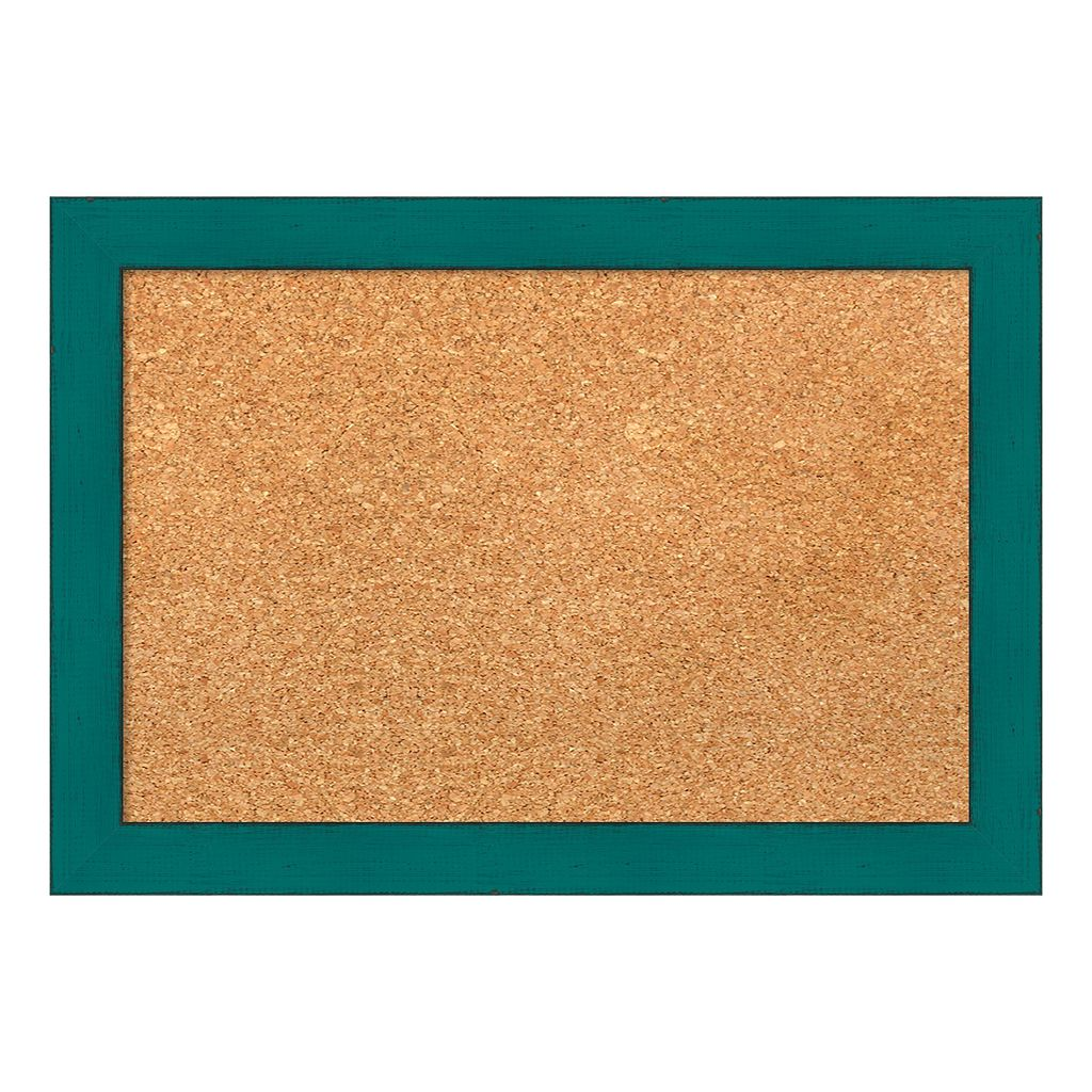 Amanti Art Small Teal Framed Cork Board Wall Decor