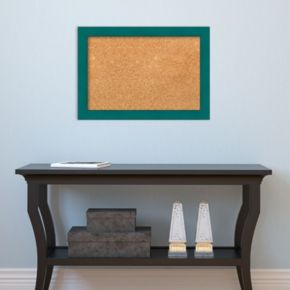 Amanti Art Small Teal Framed Cork Board Wall Decor