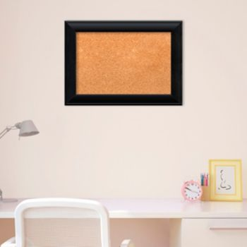 Amanti Art Small Black Finish Cork Board Wall Decor