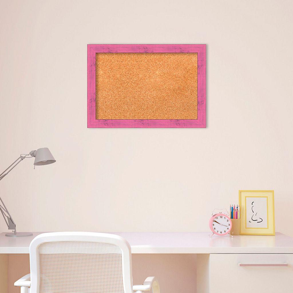 Amanti Art Small Pink Framed Cork Board Wall Decor