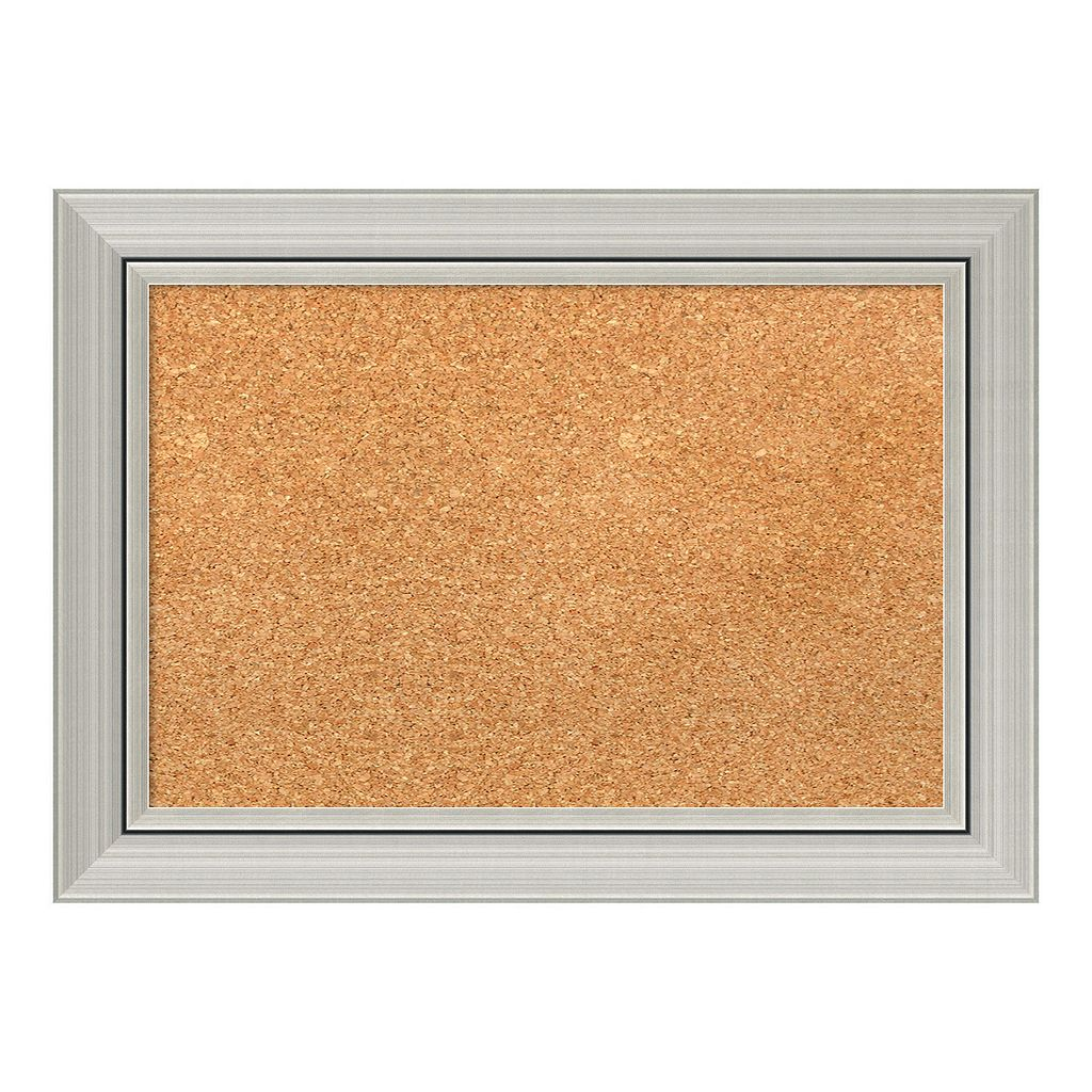 Amanti Art Small Modern Framed Cork Board Wall Decor