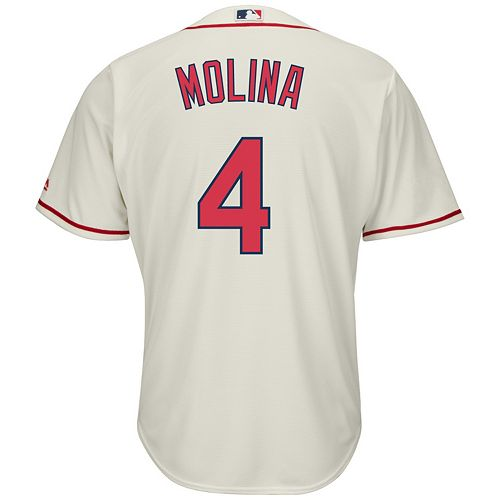 Big & Tall Majestic St. Louis Cardinals Yadier Molina Cool Base Replica Jersey