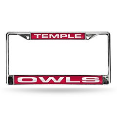 Temple Owls License Plate Frame