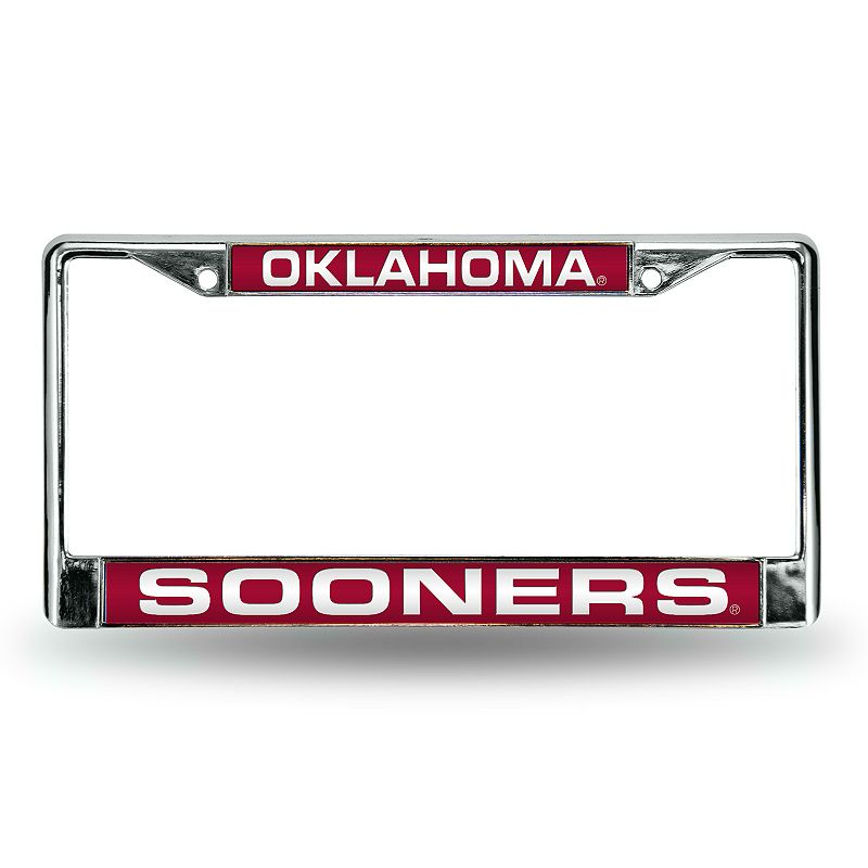 Oklahoma Sooners License Plate Frame. Red