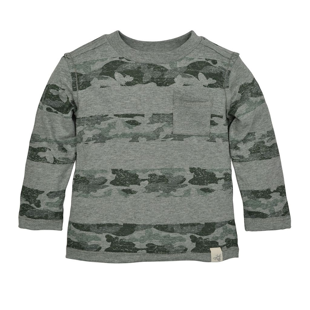 Baby Boy Burt's Bees Baby Organic Camouflage Striped Tee