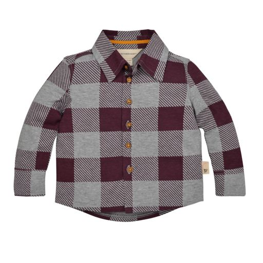 Baby Boy Burt's Bees Baby Organic Buffalo Checked Shirt