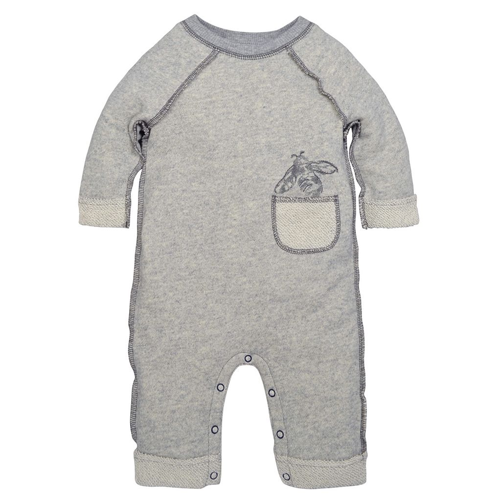 Baby Boy Burt's Bees Baby Organic Rolled Cuff Terry Coverall
