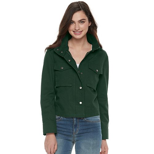 Juniors' SO® Solid Utility Jacket