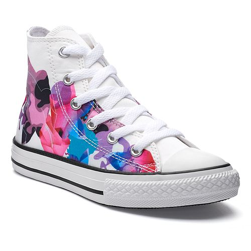 858b90fbab86 Girls  Converse Chuck Taylor All Star Print High Top Sneakers