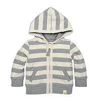 Baby Boy Burt's Bees Baby Organic Striped Hoodie