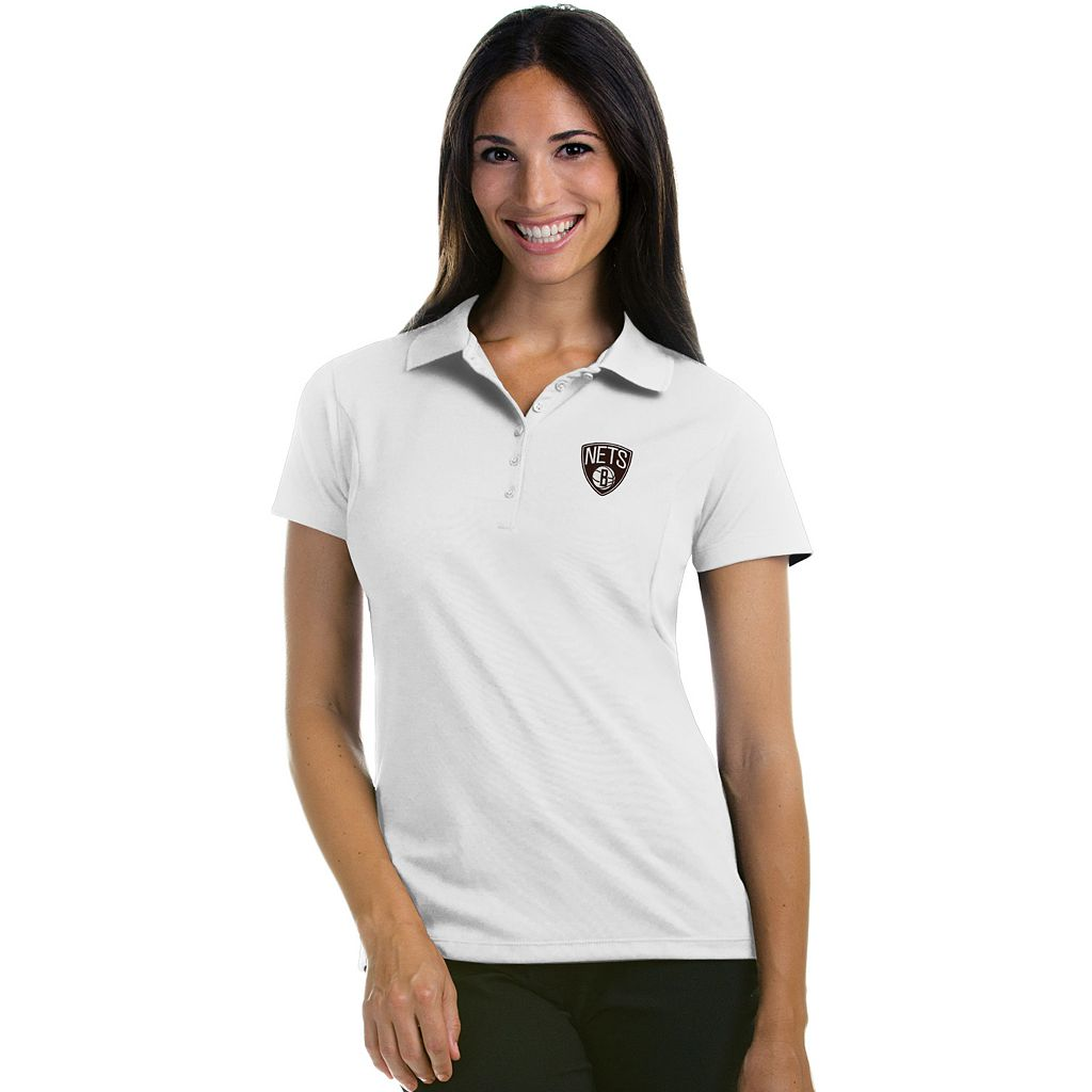 Women's Antigua Brooklyn Nets Pique Xtra-Lite Polo