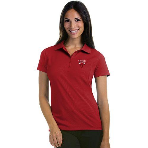 Women s Antigua Chicago Bulls Pique Xtra-Lite Polo 270f0d0c44