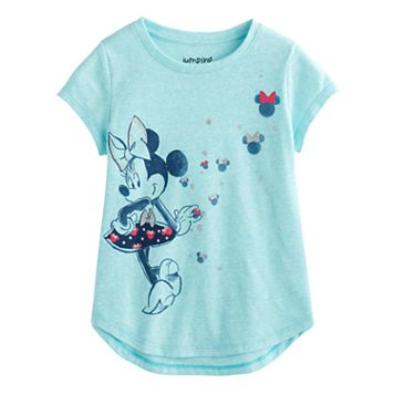 Disney's Minnie Mouse Girls 4-10 High-Low Glitter Tee by Jumping Beans®