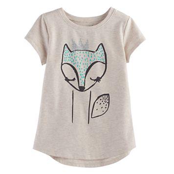 Girls 4-10 Jumping Beans® Fox Shirttail Tee