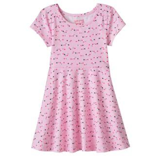Toddler Girl Jumping Beans® Pattern Skater Dress