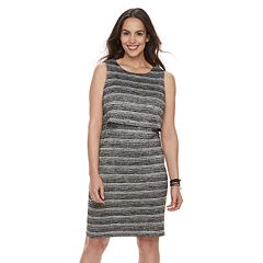 Maternity a:glow Striped Popover Nursing Dress