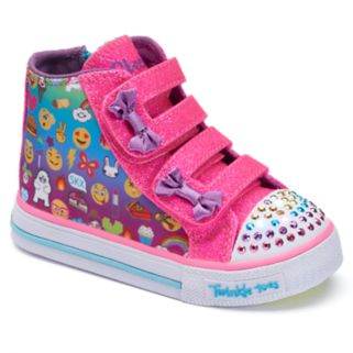 Skechers Twinkle Toes Shuffles Baby Talk Toddler Girls' Light-Up Shoes