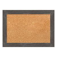 Amanti Art Small Rustic Gray Framed Cork Board Wall Decor