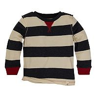 Baby Boy Burt's Bees Baby Organic Rugby Striped Tee