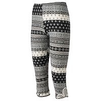 Juniors' Eye Candy Print Cutout Capri Leggings